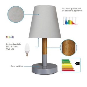 Lámpara mesa con bombilla viva-liteE14