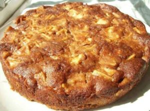Receta sana de bizcocho de manzana 1